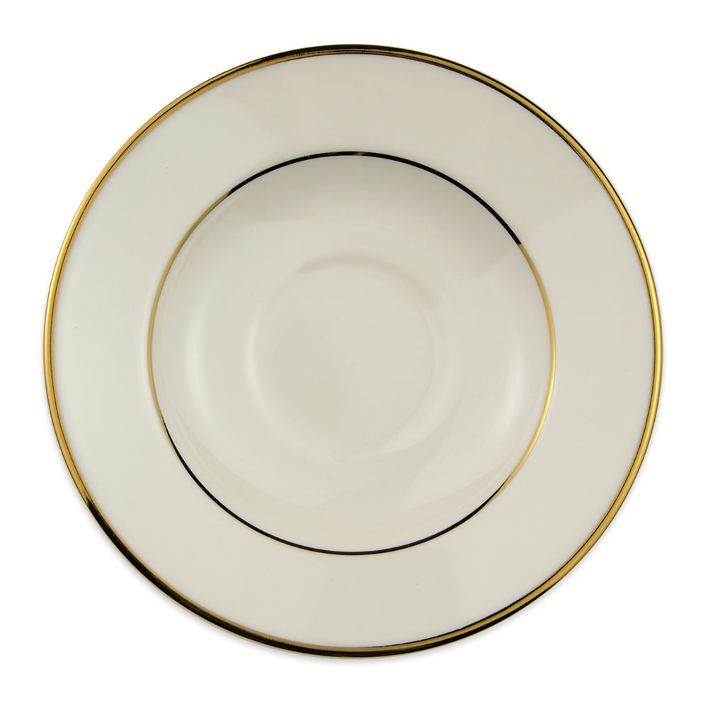 "Homer Laughlin 7011409 5.75"" Diplomat Gold Saucer - China, Ivory"