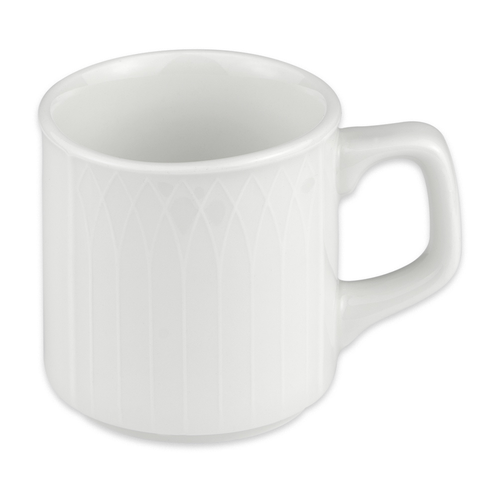 Homer Laughlin 8736900 8 oz Kensington Mug - China, Ameriwhite
