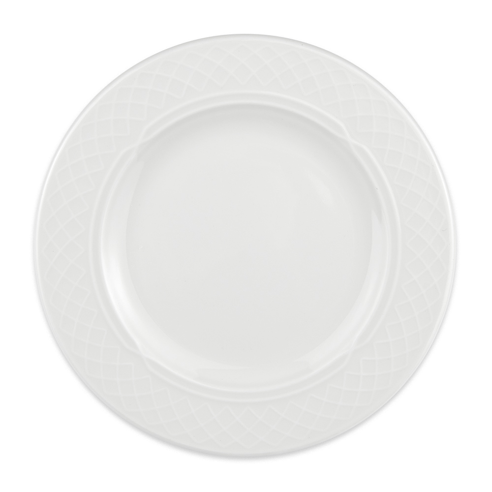 "Homer Laughlin 8746900 6.25"" Round Kensington Plate - China, Ameriwhite"
