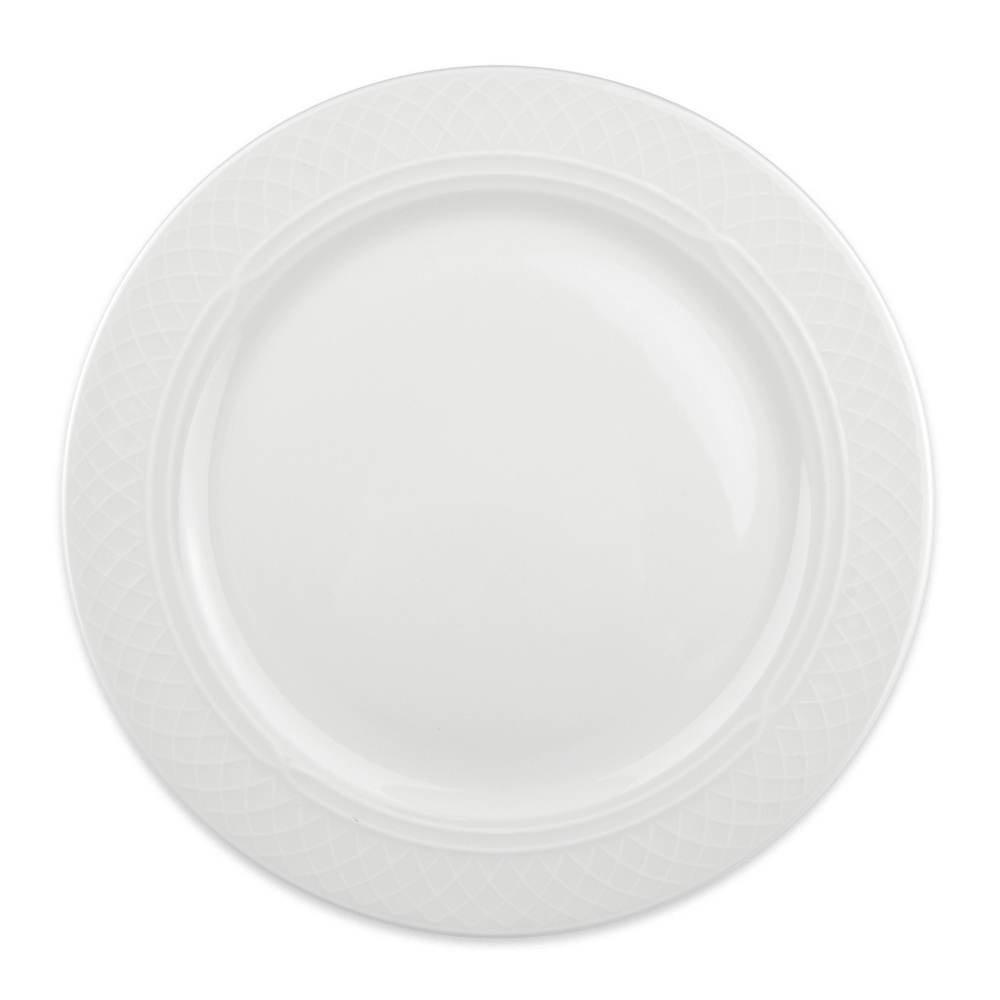"Homer Laughlin 8796900 10.5"" Round Kensington Plate - China, Ameriwhite"