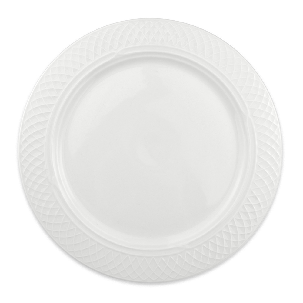 "Homer Laughlin 8806900 11"" Round Kensington Plate - China, Ameriwhite"