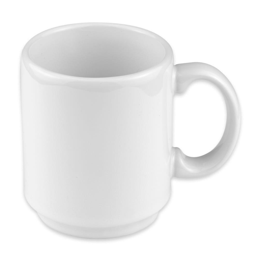 Homer Laughlin 90410000 11.5 oz Embassy Mug - China, Arctic White