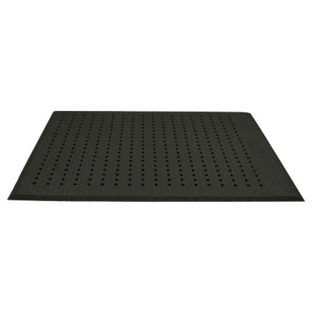 Andersen Mats 413-2-3 Cushion Max Anti-Fatigue Floor Mat w/ Drainage Holes, 2 x 3-ft, Black