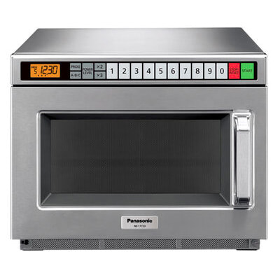Panasonic NE-17723 1700w Commercial Microwave with Touch Pad, 208v/1ph