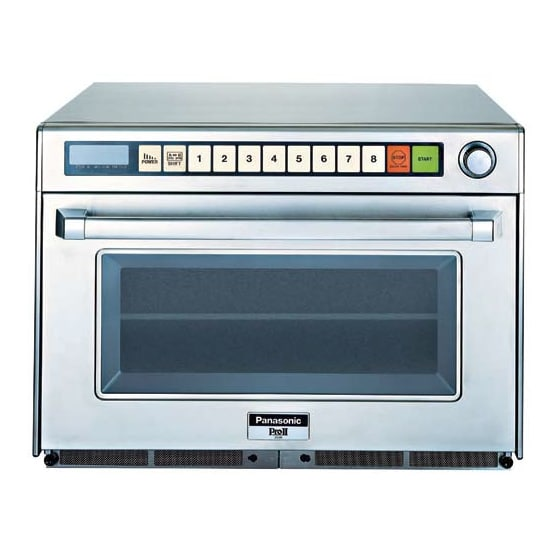 Panasonic NE-3280 3200w Commercial Sonic Steamer Microwave w/ Touch Pad, 208v/1ph