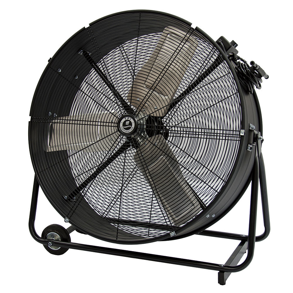 "TPI CPB36-D 36"" Portable Drum Fan w/ (2) Speeds - Steel, 120v"