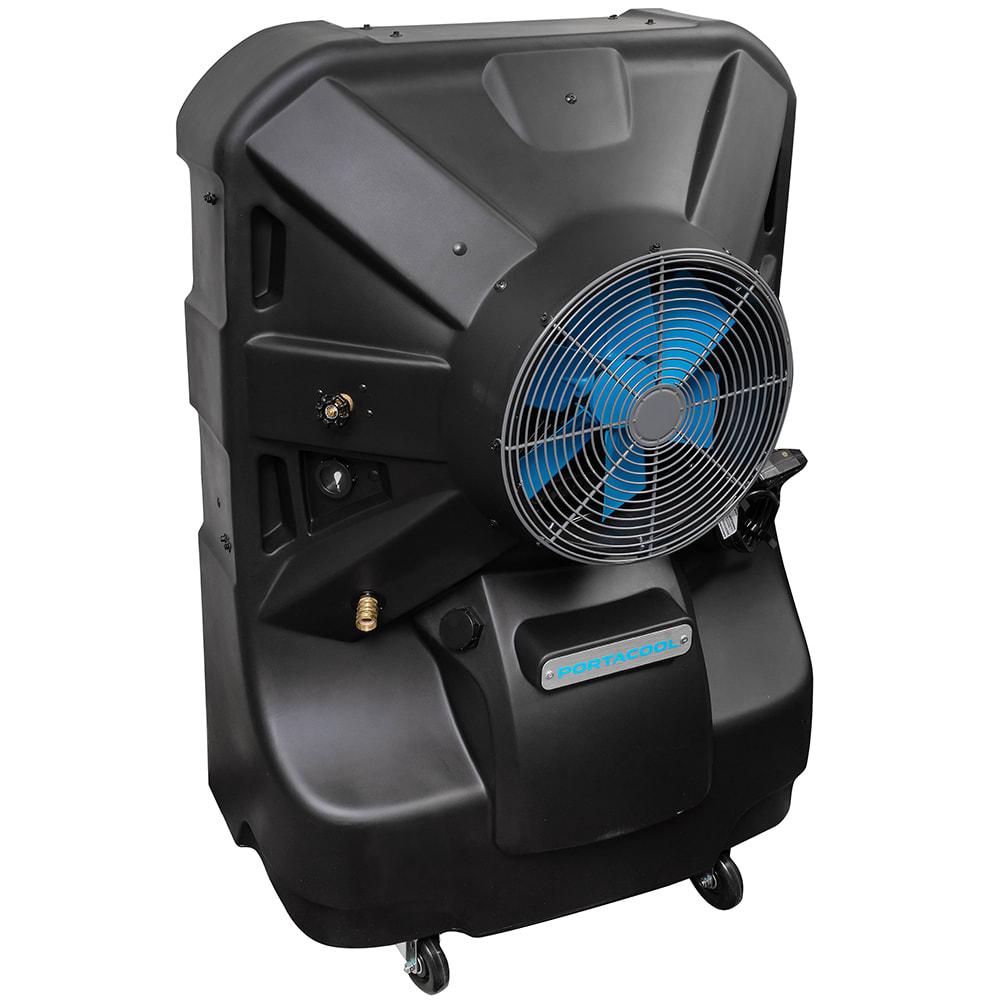 """TPI EVAP16HD 16"""" Portable Evaporative Cooler w/ 50 gal Water Reservoir - Black, 120v"""