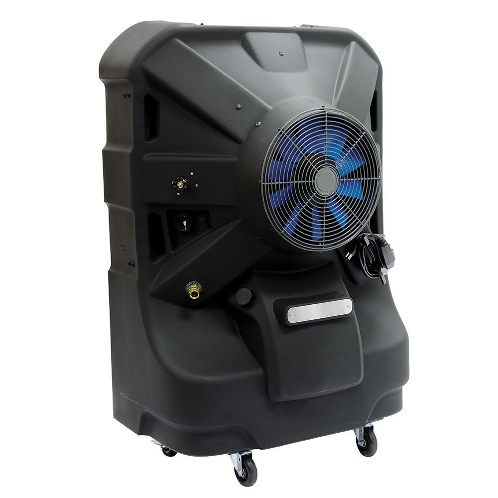 """TPI EVAP24HD 24"""" Portable Evaporative Cooler w/ 55-gal Water Reservoir - Black, 120v"""