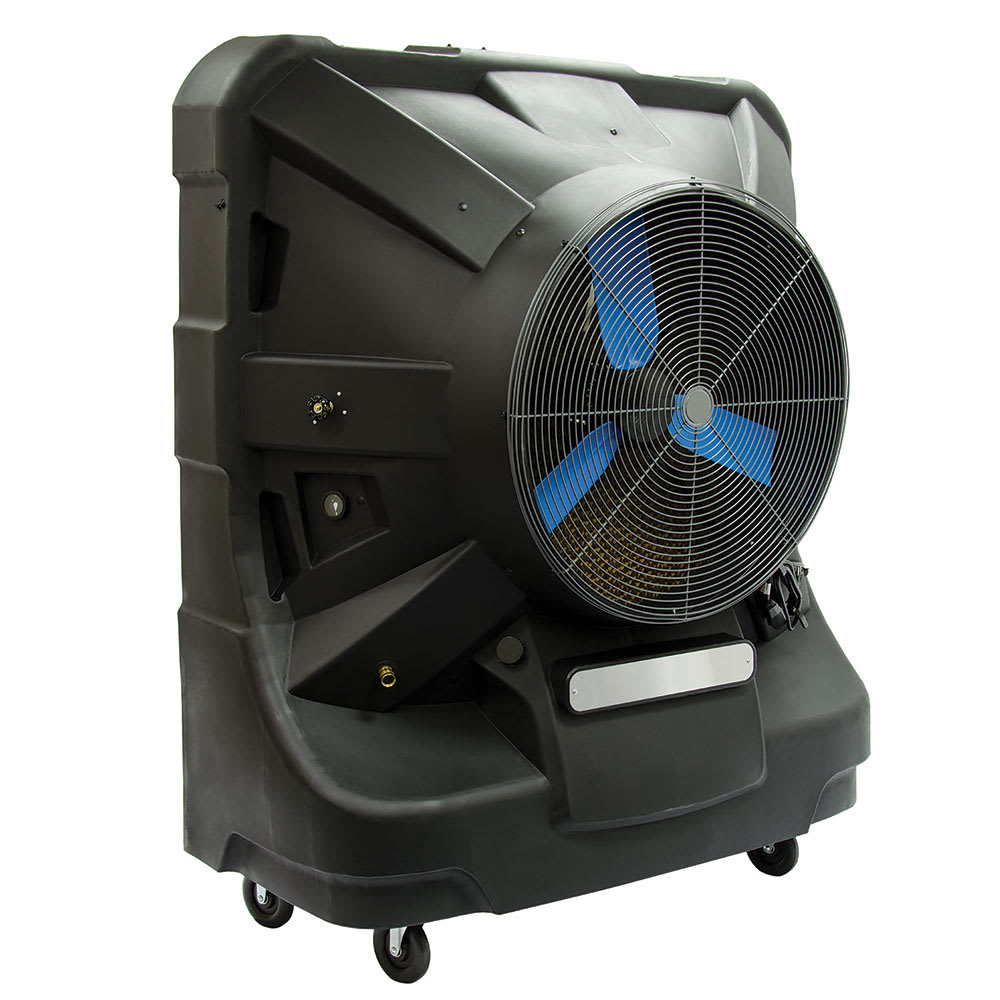 "TPI EVAP48HD 48"" Portable Evaporative Cooler w/ 65 gal Water Reservoir - Black, 120v"