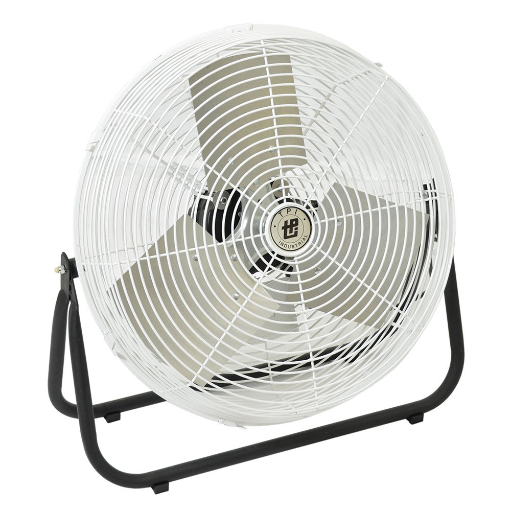 Product Industrial Fans : Tpi f cr quot industrial floor fan w speeds white