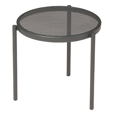 emu 100 AIRON Disco Stacking Low Table, Steel Mesh Top, Iron