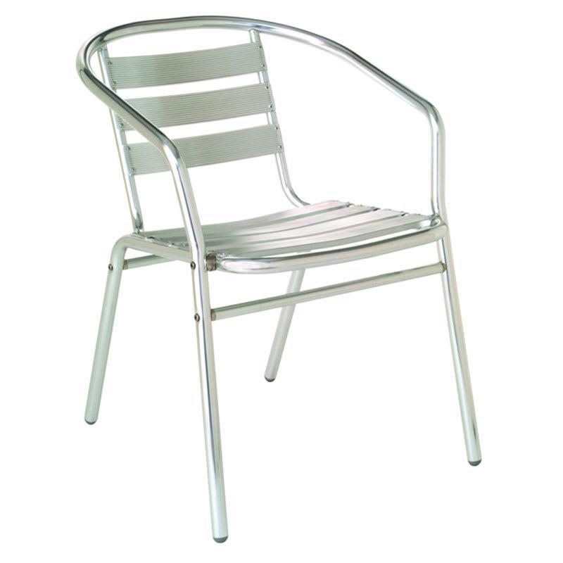 emu 1101 Sara Stacking Armchair, Aluminum Slat Seat & Back