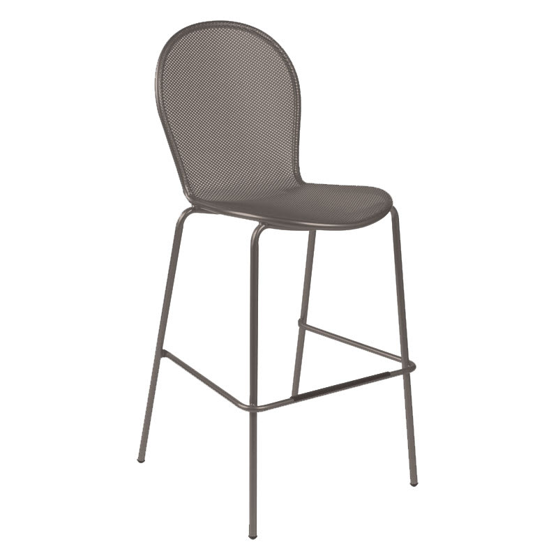emu 128 Ronda Stacking Bar Stool - Indoor/Outdoor, Steel Frame, Bronze