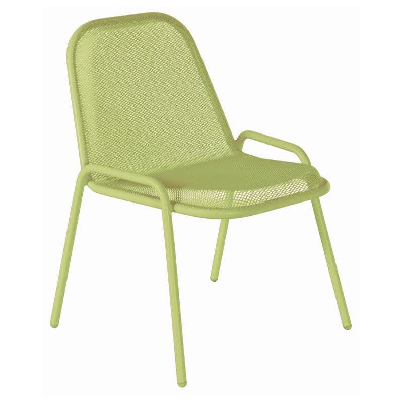 emu 133 Golf Stacking Side Chair - Indoor/Outdoor, Steel Frame, Green