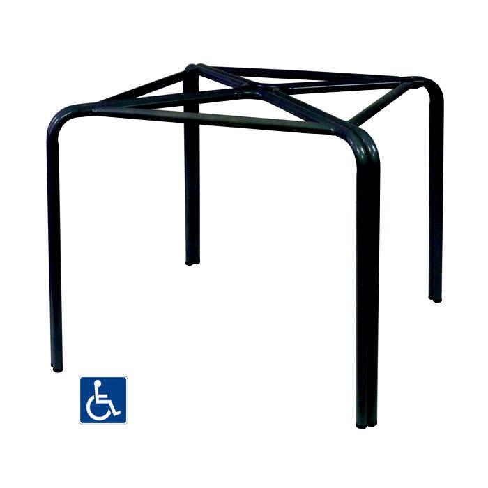 """emu 1341 29.5"""" Zeus Table Base for 36"""" Square Tops - Cast Aluminum, Antique Black"""