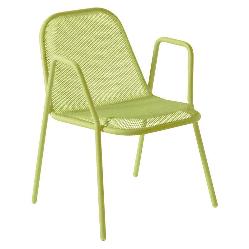 emu 134 Golf Stacking Armchair - Indoor/Outdoor, Steel Frame, Green