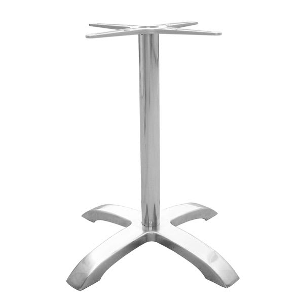 "emu 1361 Dining Height Table Base w/ 4 Cross Base & 26x26"" Spread, Cast Aluminum"