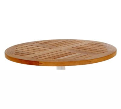 emu 1441 Tom Table Top, 28 in Diameter, Natural Teak