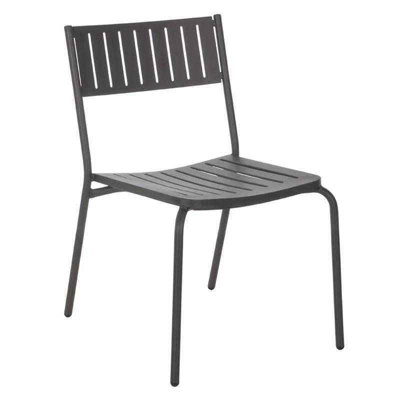 emu 146 Bridge Stacking Side Chair - Indoor/Outdoor, Steel Frame, Bronze