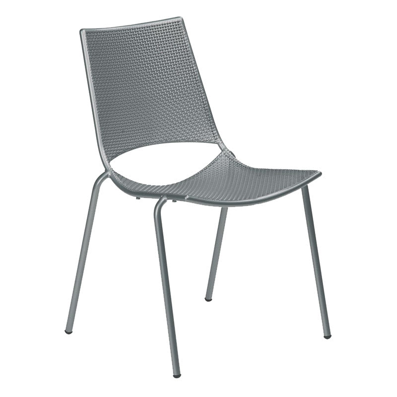 emu 150 AIRON Topper Side Chair, Mesh, Tubular Frame, Iron