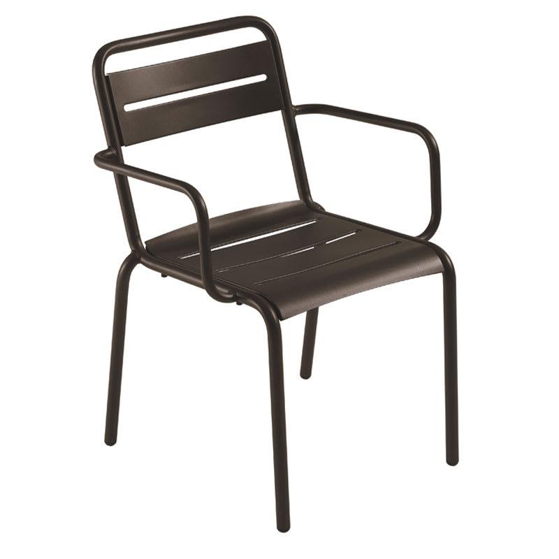 emu 162 Star Stacking Armchair - Indoor/Outdoor, Steel Frame, Bronze