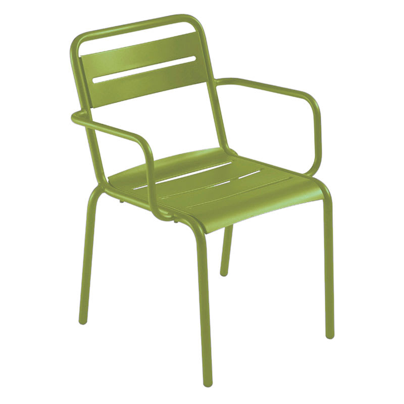 emu 162 Star Stacking Armchair - Indoor/Outdoor, Steel Frame, Green