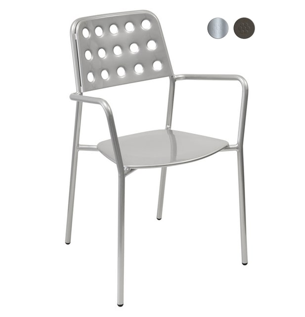 emu 169 Shot Stacking Armchair - Indoor/Outdoor, Steel Frame, Bronze