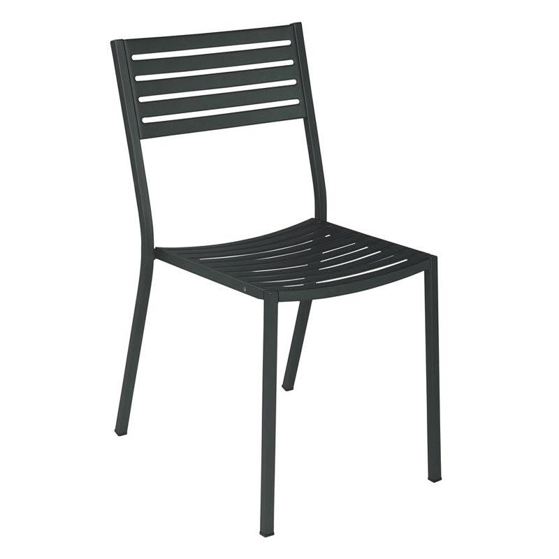 emu 263 AIRON Segno Side Chair, Slatted, Square Tubular Frame, Iron