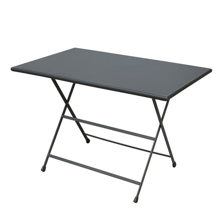 "emu 331 AIRON 44"" Rectangular Folding Table w/ Solid Top, Iron"