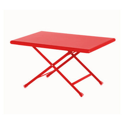 "emu 331 Arc En Ciel Folding Table w/ 44"" x 28"" Rectangular Top - Steel, Antique Cherry"