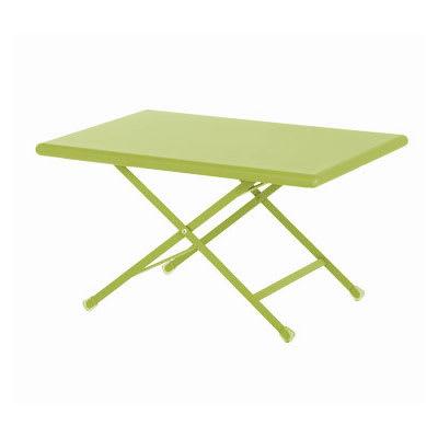"emu 331 Arc En Ciel Folding Table w/ 44"" x 28"" Rectangular Top - Steel, Antique Green"