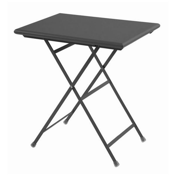"emu 334 AIRON 28"" Rectangular Folding Table w/ Solid Top, Aluminum"
