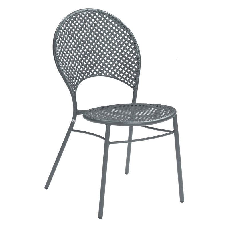 emu 3402HD Sole Heavy-Duty Stacking Side Chair - Indoor/Outdoor, Steel Frame, Iron