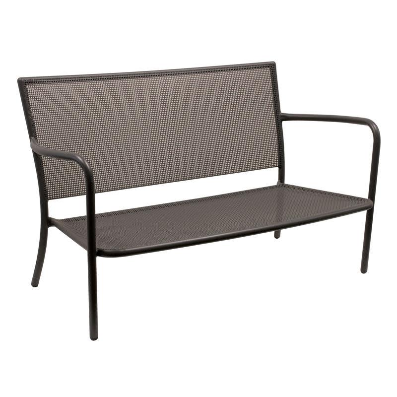 emu 3417 Podio Lounge Love Seat, Mesh, Tubular Frame, Bronze