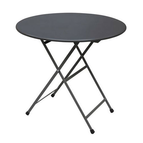 "emu 346 Arc En Ciel Folding Table w/ 32"" Round Top - Steel, Antique Iron"