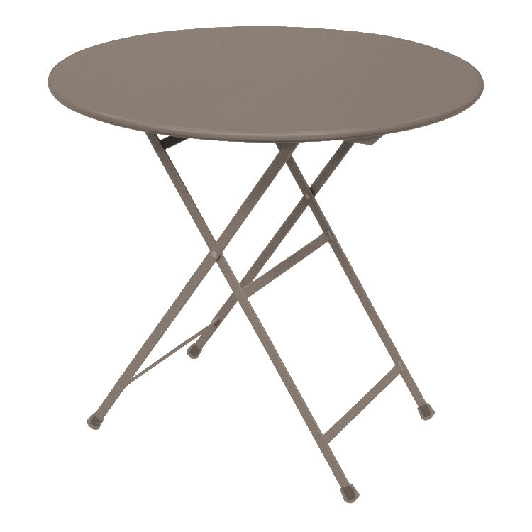 "emu 346 Arc En Ciel Folding Table w/ 32"" Round Top - Steel, Antique Bronze"