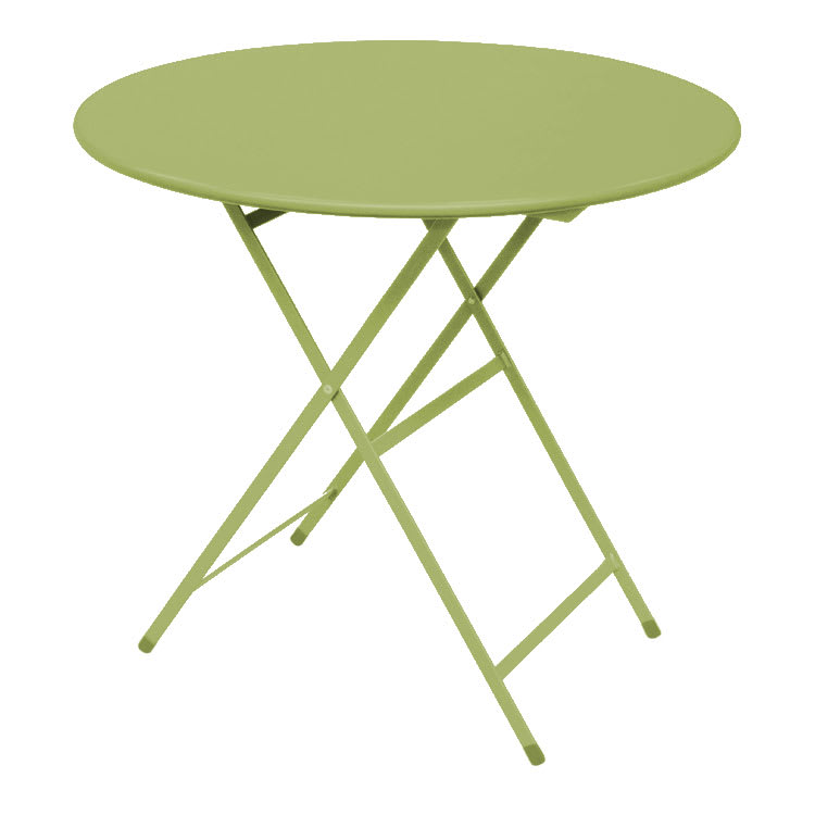 "emu 346 Arc En Ciel Folding Table w/ 32"" Round Top - Steel, Antique Green"