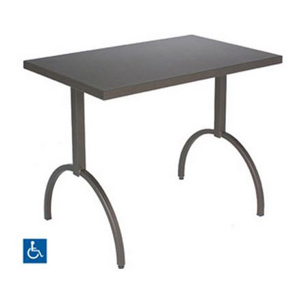 "emu 3521 Segno Table w/ 38"" x 24"" Rectangular Top - Steel, Antique Bronze"
