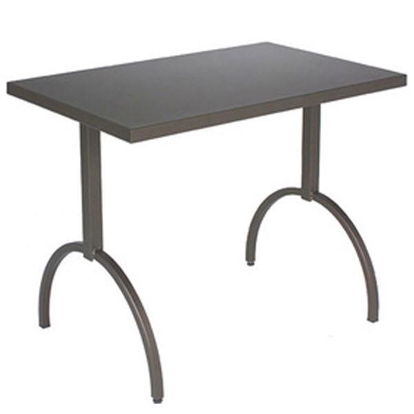 "emu 3521 AIRON ADA Segno Table, 38 W x 23""D, Square Frame, Iron"