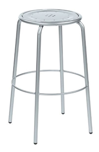 emu 387 AIRON Coupole Backless Barstool, Steel Seat & Frame, Iron