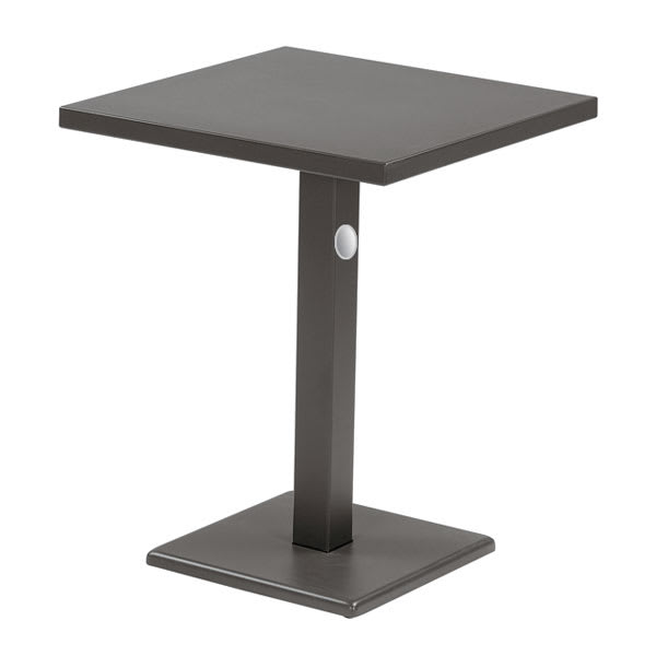 "emu 472K 24"" Square Lock Table, Column, Pedestal, Bronze"