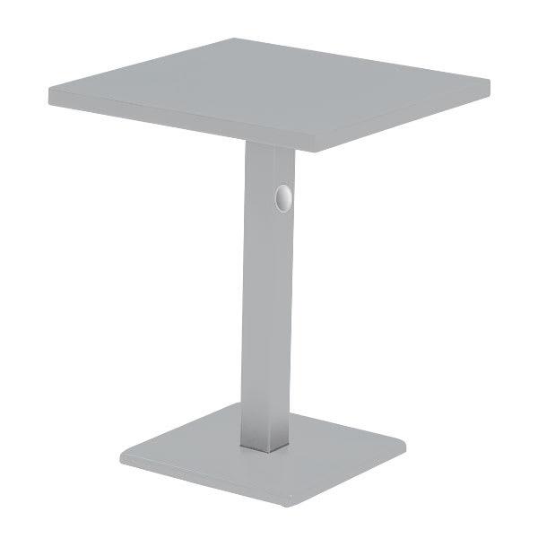 "emu 472K ALU 24"" Square Lock Table, Column & Pedestal, Aluminum"