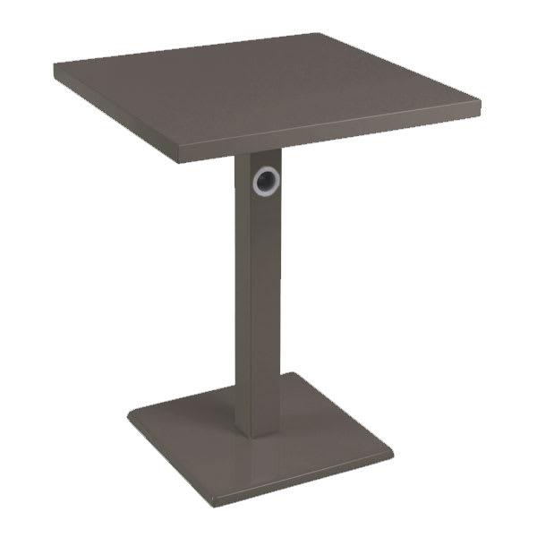 "emu 473K 32"" Square Lock Table, Column, Pedestal, Bronze"