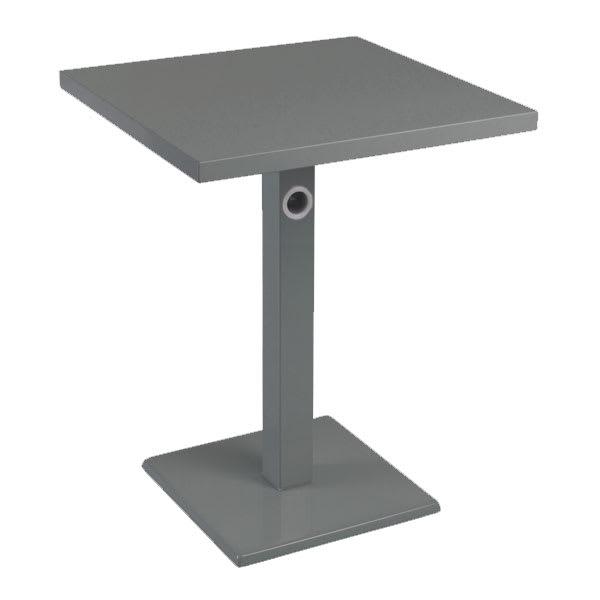 "emu 473K AIRON 32"" Square Lock Table, Column & Pedestal, Iron"