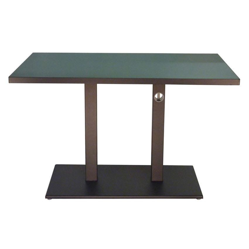 "emu 474K 48"" Rectangular Lock Table w/ Solid Top & Pedestal, Bronze"