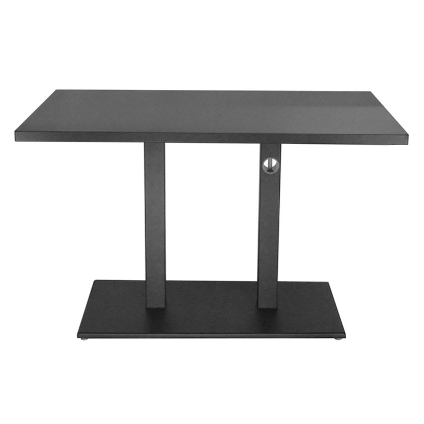 "emu 474K AIRON 48"" Rectangular Lock Table w/ Solid Top & Pedestal, Iron"