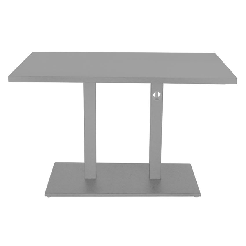 "emu 474K ALU 48"" Rectangular Lock Table w/ Solid Top & Pedestal, Aluminum"