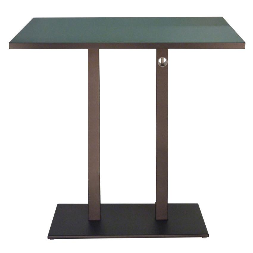 Emu KH ABRONZE Rectangular Lock Bar Table W Solid Top Pedestal - Square pedestal pub table