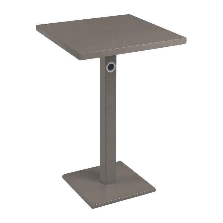 "emu 475KH 24"" Square Lock Bar Table w/ Solid Top & Pedestal, Bronze"