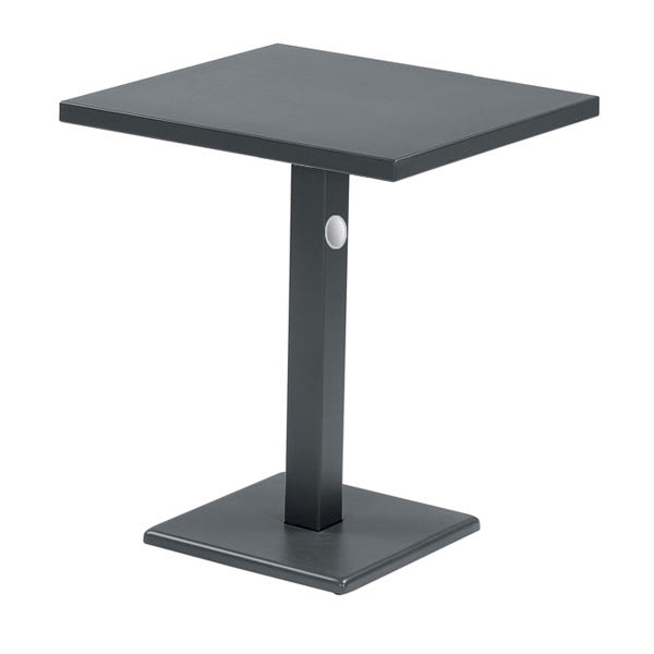 "emu 476K IRON 28"" Rectangular Lock Table w/ Solid Top & Pedestal, Iron"